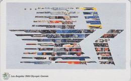 Télécarte Japon Poster JEUX OLYMPIQUES - LOS ANGELES 1984 - OLYMPIC GAMES - USA Rel. - Japan Sport Phonecard - 182 - Jeux Olympiques