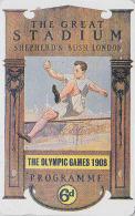 Télécarte Japon Poster JEUX OLYMPIQUES - LONDON 1908 - SAUT - OLYMPIC GAMES - ENGLAND Rel. - Japan Sport Phonecard - 183 - Jeux Olympiques