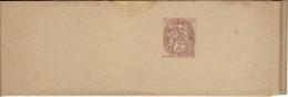 BANDES-JOURNEAUX Blanc 2c Brun-rouge 108-BJ5 - Lot 10 Bandes - N°533 - Enteros Postales