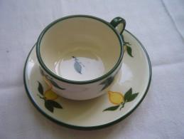 5 Tazas  De Cafe Y Platos  - Menton - Staffordshire