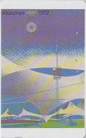 Rare Télécarte Japon Poster JEUX OLYMPIQUES - MÜNCHEN 1972 - OLYMPIC GAMES - GERMANY Rel. - Japan Sport Phonecard - 185 - Jeux Olympiques