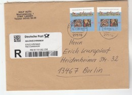 2009 REGISTERED GERMANY COVER Stamps UNESCO With ENCLOSED REGISTERED POST RECEIPT FORM Un Religion - [7] Federal Republic