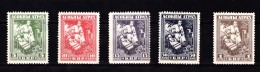 Belarus, Wit-Rusland 1920 Nr B 23 - 27 Postfris Met Plakker - Belarus