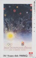 Rare Télécarte Japon - Poster JEUX OLYMPIQUES - ST MORITZ 1948 - OLYMPIC GAMES Sunset - SWITZERLAND Japan Phonecard 187 - Jeux Olympiques