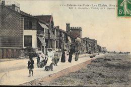 Palavas-les-Flots - Les Chalets, Rive Gauche - Edition J. Claparède - Carte Colorisée N° 11 - Palavas Les Flots
