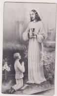 ANTICO SANTINO SEPIA AR 566 RICORDO PRIMA COMUNIONE 1936 IMAGE PIEUSE ANDACHTSBILD HOLY CARD - Imágenes Religiosas