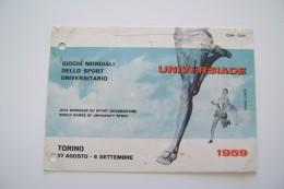Universiade 1959 Giochi Mondiali Dello Sport Torino World Games Jeux Mondiaux Maximum Bari  Fori Di Archivio - Jeux Olympiques