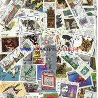 POLOGNE 100 TIMBRES  DIFFERENTS  OBLITERES TRES BON ETAT - Colecciones