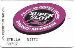 Fort McDowell Fountain Hills, AZ - Early Slot Card - Bronze Member - Casino Cards
