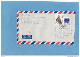 CHINE-Marcophilie-lettre>Françe  -cad Beijing-1991 -affranchissement Composé 2 Timbres - 1949 - ... République Populaire