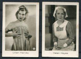 2 X Ramses Filmfotos Film Stars Cards Helen Hayes / Lilian Harvey - Cigarette Cards
