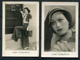 4 X Ramses Filmfotos Film Stars Cards Greta Garbo / Clark Gable / Joan Crawford - Cigarette Cards