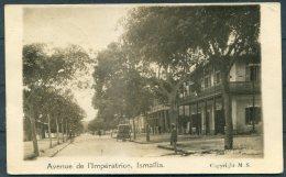 1916 GB Egypt Ismailia Avenue De L'Imperatrice RP Postcard Censor Field Post Office FPO Chard, Somerset