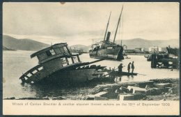 Hong Kong Wreck Of Canton Steamer Typhoon 18th September 1906 Sternberg Postcard - Cina (Hong Kong)