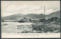 Hong Kong N.S. Rosario Hospital Ship Hygiene Sum Sow Po Typhoon 18th September 1906 Sternberg Postcard - China (Hong Kong)