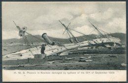 Hong Kong HMS Phoenix Damaged By Typhoon Kowloon 18th September 1906 Sternberg Postcard - Cina (Hong Kong)