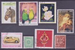 LOT OF USED STAMPS    ANIMALES  ANIMALS CARS  COCHES PAISES  COUNTRIES VARIOS  VARIOUS   S-1491 - Sellos