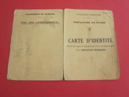 1939 Carte Identité Délivrée Aux Citoyens état Français-préfecture Doubs Moracchini M. Corsica Née 1889 à Golfe Juan - Historical Documents