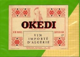 Etiquette  Vin D´ Algerie OKEDI - Sud Africa