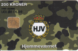 DENMARK - HJV, Home Guard, Danmont Telecard 200 Kr., Tirage 7443, Exp.date 05/99, Used - Armée