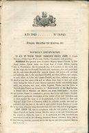 1845 Patent  Document 'Hinges, Handles For Knives' James Boydell, Oak Farm Works, Dudley - Decreti & Leggi