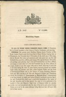 1845 Patent  Document 'Moulding Sugar' Frederick Gye, South Lambeth, Surrey - Decrees & Laws