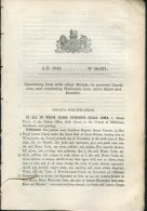 1845 Patent  Document ' Combining Iron With Other Metals ........ Moses Poole - Decrees & Laws