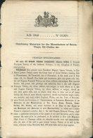 1845 Patent  Document ' Combining Materials For The Manufacture Of Boxes, Trays, Oil Clothes Etc' Eugene F. Vidoc France - Decreti & Leggi