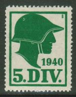 Suisse /Schweiz/Switzerland // Vignette Militaire  // Kommandostäbe, 5 Division  No. 49 - Poste Militaire