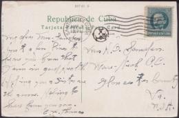 1917-H-315 CUBA REPUBLICA. 1c PATRIOTAS. MARTI. POSTAGE DUE. 1919 TO US POSTCARD BAYAMO RIVER. - Lettres & Documents