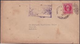 1917-H-319 CUBA REPUBLICA. 2c PATRIOTAS. 1926. MARCA POSTAL DE NO INCLUIR VALORES EN LAS CARTAS. - Lettres & Documents