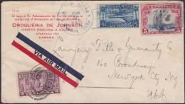 1927-H-29 CUBA REPUBLICA. 5c  US STAMPS + SPECIAL DELIVERY US + CUBA AIR STAMP. - Cuba