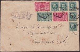 1928-H-58 CUBA REPUBLICA. 1928. 1-2c SEXTA CONFERENCIA. SOBRE CERTIFICADO A SANTIAGO DE CUBA. - Cuba