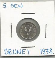 D5 Brunei 5 Sen 1978. - Brunei