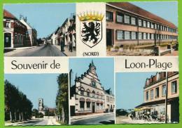 LOON-PLAGE Souvenir Multivues Blason Citroen Traction Auto Photo Véritable Colorisée - Other Municipalities