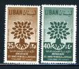 1960 - LIBANO - LEBANON - Scott Nr.  C284/C285 - Mi 670/671 - NH - (S12102013.....) - Liban