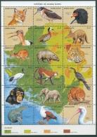 Sierra Leone 1990 Wildtiere Adler Leopard 1479/96 ZD-Bogen Postfrisch (C23253) - Sierra Leone (1961-...)