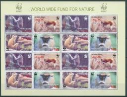 Sierra Leone 2004 WWF Husarenaffe 4694/97 ZD-Bogen Postfrisch (C23246) - Sierra Leone (1961-...)