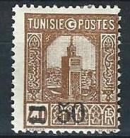 "Tunisie YT 160 "" TP Surchargés 50c. Sur 40c. Brun "" 1929-30 Neuf* - Unused Stamps"