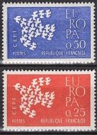 FRANCE 1961 -  SERIE Y.T. N° 1309 / 1310 - 2 TP NEUFS** - Francia