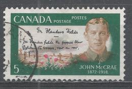 Canada 1968, Scott #487 Lt. Col. John McCrae (1872-1918) And Flanders Fields (U) - 1952-.... Règne D'Elizabeth II