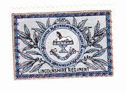 Vignette Militaire Delandre - Angleterre - Lincolnshire Regiment - Erinnofilia