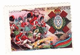 Vignette Militaire Delandre - Angleterre - Royal Highlanders - Erinnofilia