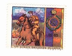 Vignette Militaire Delandre - Angleterre - 1st King's Dragoon Guards - Erinnofilia
