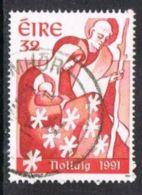 Ireland SG829 1991 Christmas 32p Good/fine Used - 1949-... Repubblica D'Irlanda