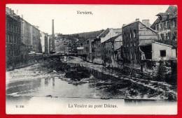 Verviers.La Vesdre Au Pont Diktus. ( Passerelle - Fabrique Diktus, Rue David). Ca 1900 - Verviers