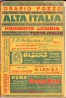 ORARIO POZZO - ALTA ITALIA - PIEMONTE E LIGURIA - SINO AL 31 MAGGIO 1969 - ANNO 47 - Europa