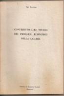 Contributo Allo Studio Dei Problemi Economici Della Liguria Ugo Marchese - Diritto Ed Economia