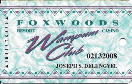 Foxwoods Casino Ledyard, CT - Slot Card - Last Line In Reverse Paragraph Starts 'on The Casino' - Casino Cards