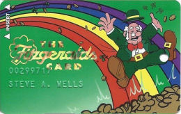 Fitzgerald's Casino Black Hawk, CO - Slot Card - White Glasses & Red Tie - 12.5mm Mag Stripe - Casino Cards